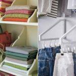 Как экономить место в шкафу