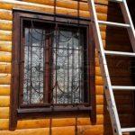 Первый этаж решетки на окна