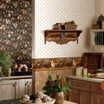 Кухня с разными обоями фото